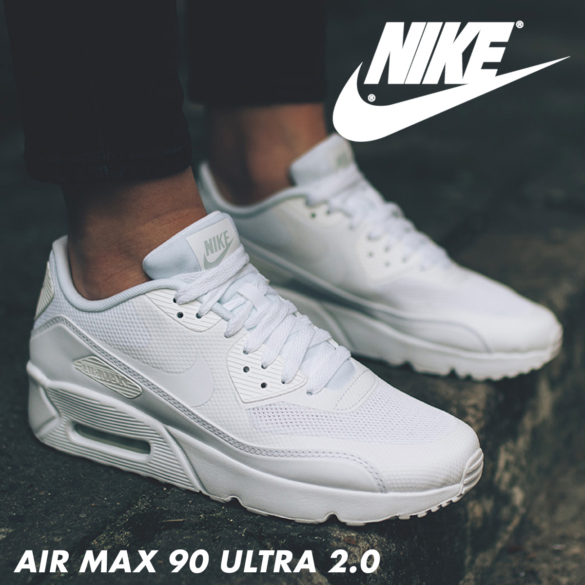 best service b0172 1f7f3 Nike NIKE Air Max 90 ultra Lady s sneakers AIR MAX 90 ULTRA ESS 2.0 GS  869,950-100 shoes white  7 29 Shinnyu load