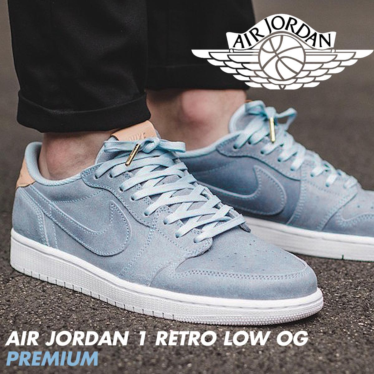 on sale 12932 bee70 Nike NIKE Air Jordan sneakers AIR JORDAN 1 RETRO LOW OG PREMIUM men low  905,136-402 shoes white