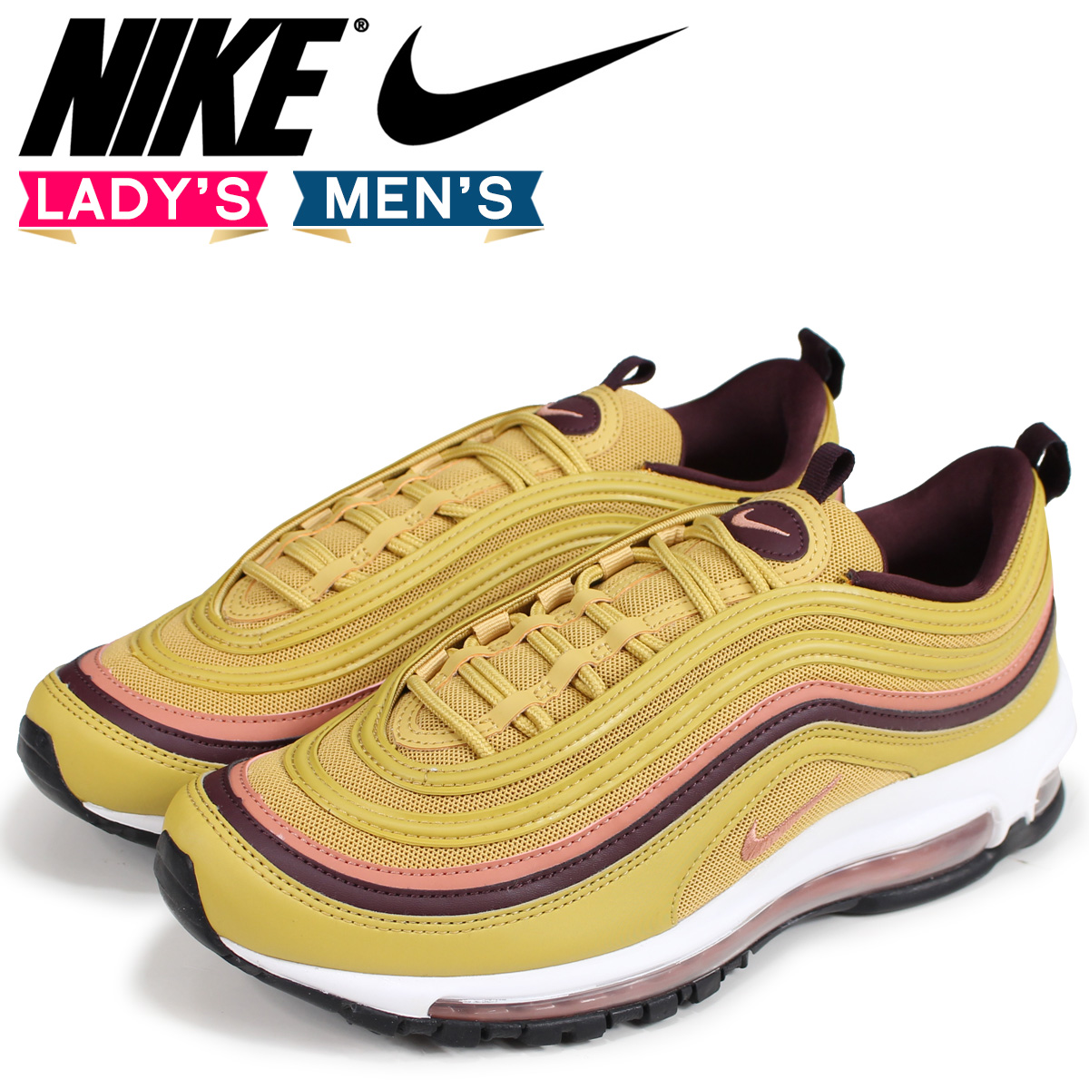 NIKE Kie Ney AMAX 97 lady's men's sneakers WMNS AIR MAX 97 921,733 700 gold