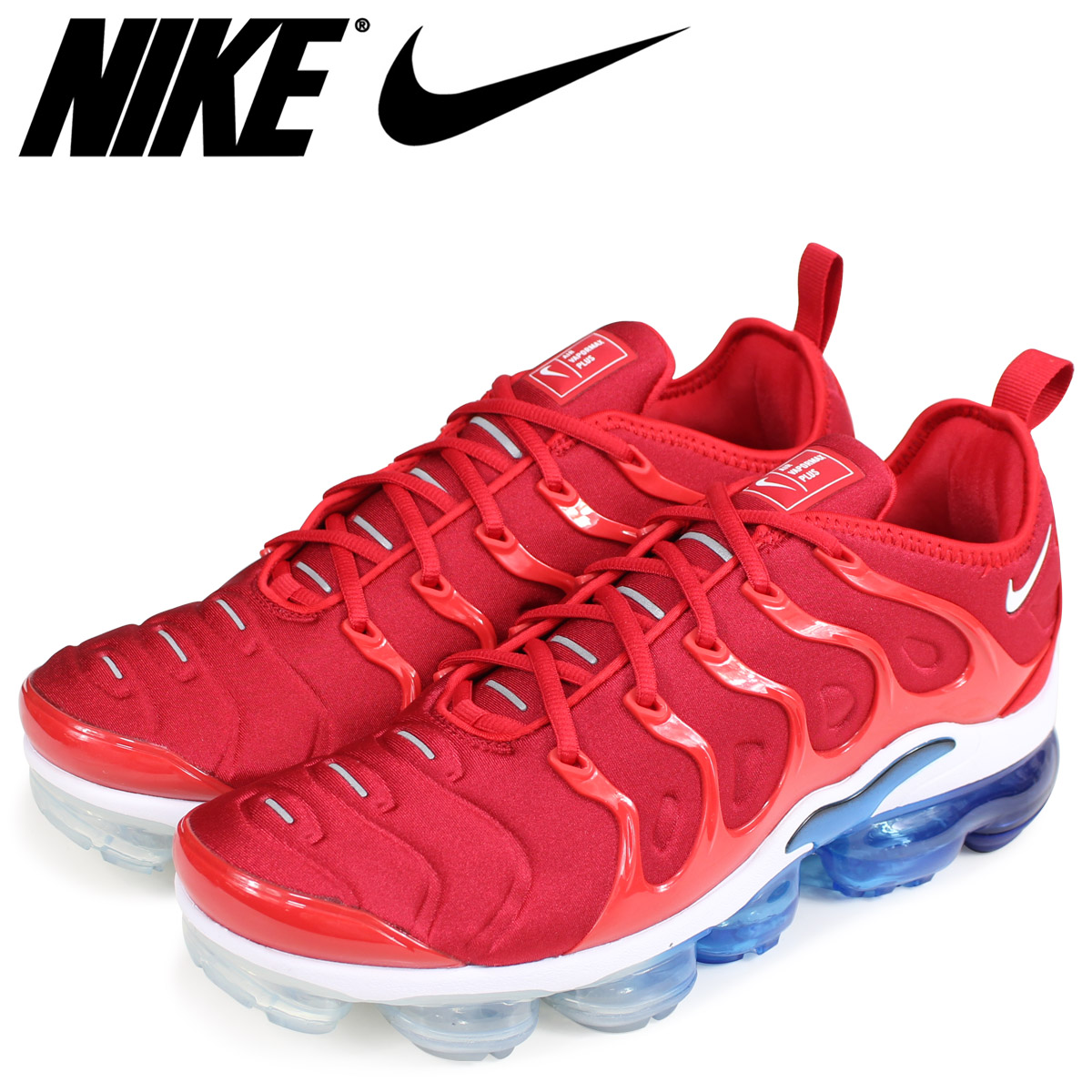 58e3ac9de1 NIKE Nike air vapor max plus sneakers men AIR VAPORMAX PLUS 924,453-601 red  ...