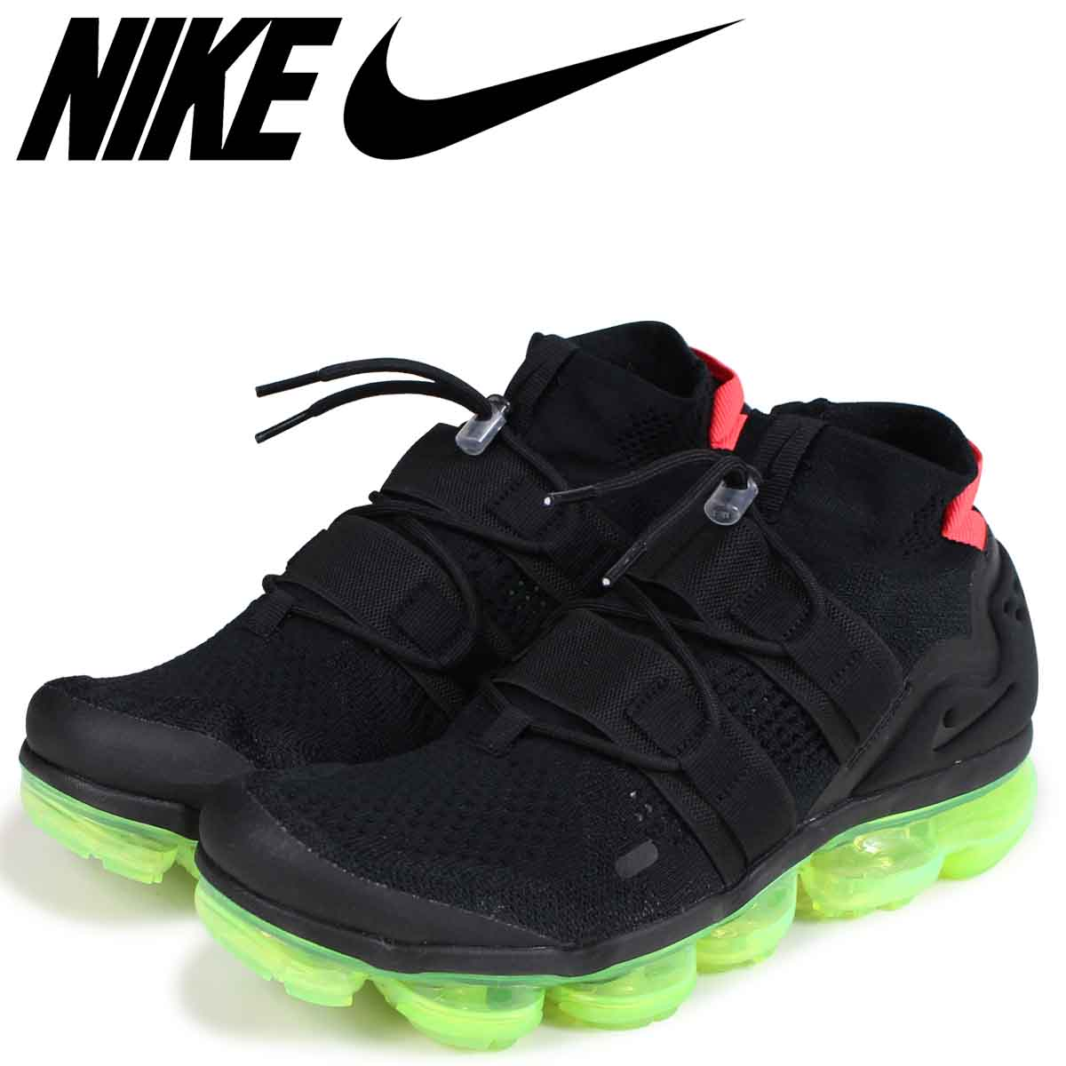 brand new d3a2b d5305 NIKE Nike air vapor max fried food knit sneakers men AIR VAPORMAX FLYKNIT  UTILITY AH6834-007 black black