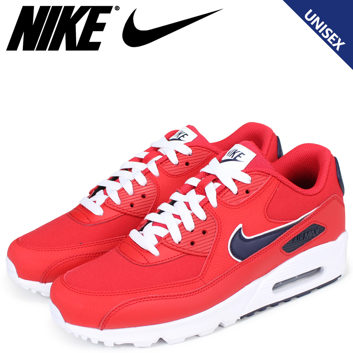 low priced f2a55 416b6 NIKE Kie Ney AMAX 90 essential sneakers men AIR MAX 90 ESSENTIAL AJ1285-601  red  load planned Shinnyu load in reservation product 6 28 containing