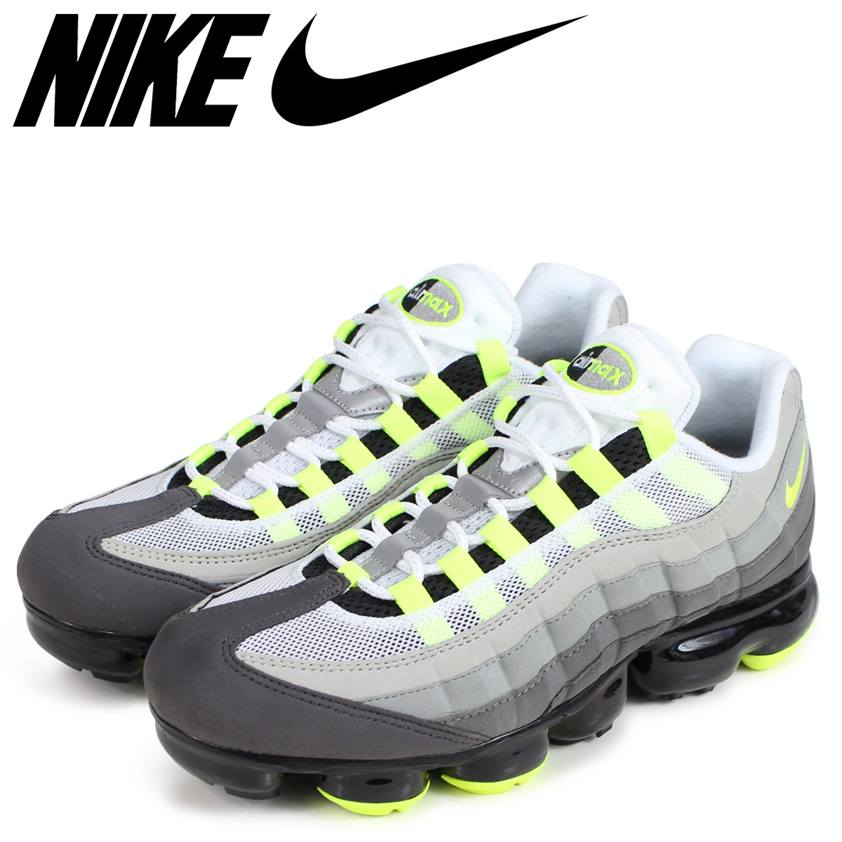 save off 44261 5ee0a NIKE Nike air vapor max 95 sneakers men AIR VAPORMAX 95 NEON AJ7292-001  neon yellow [the 9/6 additional arrival]