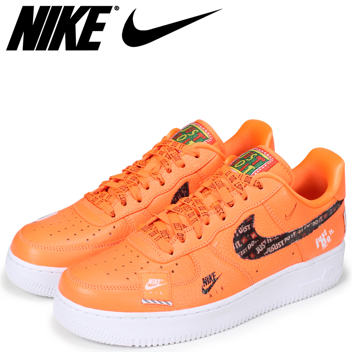 cheap for discount 55910 61f28 NIKE Nike air force 1 sneakers men AIR FORCE 1 07 PREMIUM JUST DO IT  AR7719-800 orange load planned Shinnyu load in reservation product 713  containing