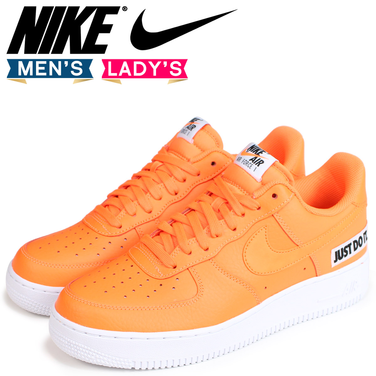 Nike Leather Force Sneakers Orange Do Just It Gap Lv8 Bq5360 1 Dis Men Air 800 07 UVpqzSMG