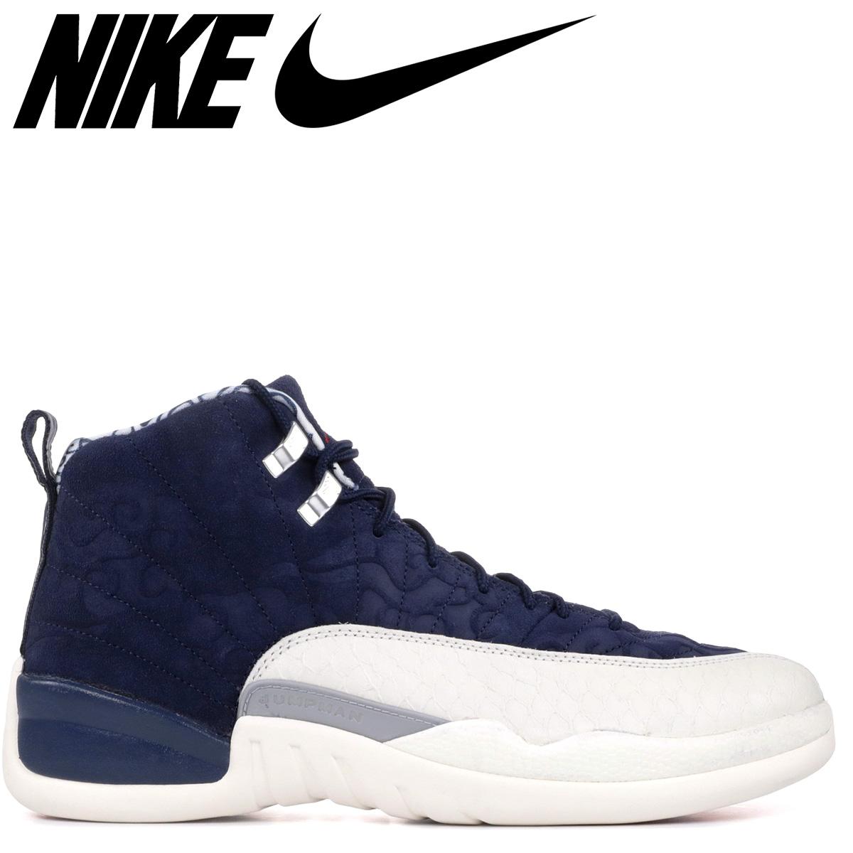 1ec758a096ff NIKE Nike Air Jordan 12 nostalgic sneakers men AIR JORDAN 12 RETRO  INTERNATIONAL FLIGHT BV8016-445 navy  load planned Shinnyu load in  reservation product ...