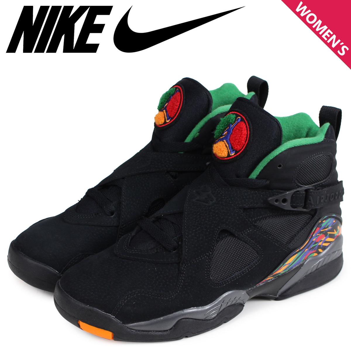 the best attitude 85a8e 40dc3 NIKE Nike Air Jordan 8 nostalgic lady's sneakers AIR JORDAN 8 RETRO GS  305,368-004 black [load planned Shinnyu load in reservation product 1/5 ...