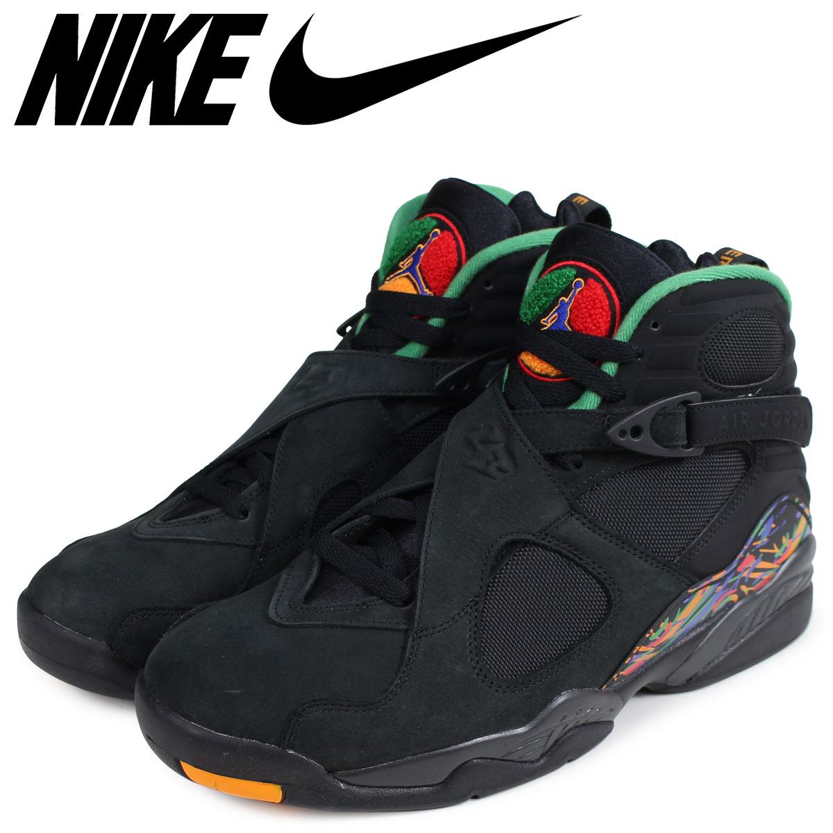 nouveaux styles b5b24 34734 NIKE Nike Air Jordan 8 nostalgic sneakers men AIR JORDAN 8 RETRO  305,381-004 black black