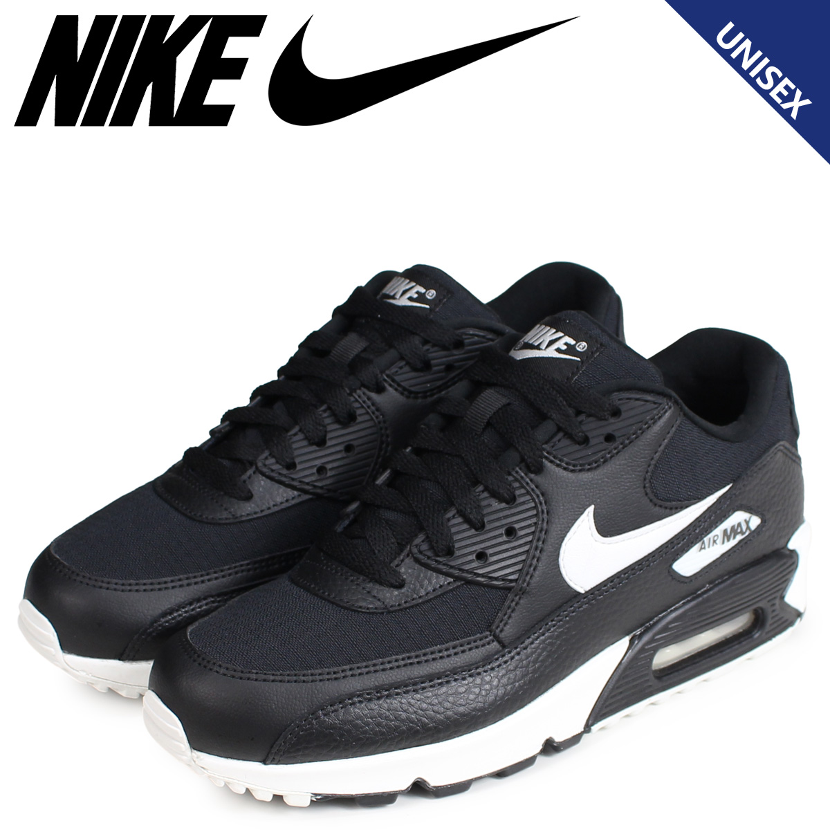 magasin en ligne 159cf e50c0 NIKE Kie Ney AMAX 90 sneakers Lady's men WMNS AIR MAX 90 black black  325,213-060 [the load planned additional arrival in reservation product  9/13 ...