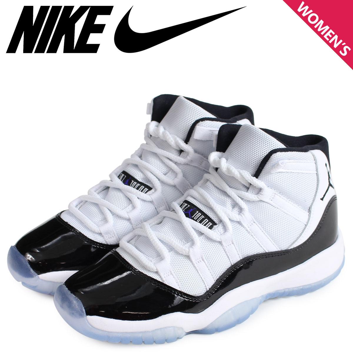366e3eaa22 NIKE Nike Air Jordan 11 nostalgic sneakers Lady's AIR JORDAN 11 RETRO GS  378,038-100 white white