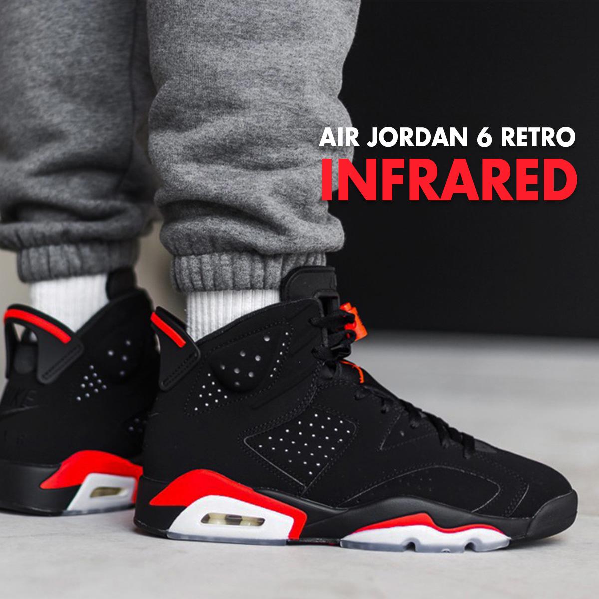 new styles 0b0f4 d71d4 NIKE Nike Air Jordan 6 nostalgic sneakers men AIR JORDAN 6 RETRO black  black infrastructure red 384,664-060
