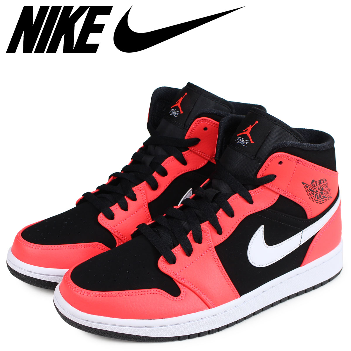 newest collection 68a6e baaf8 NIKE Nike Air Jordan 1 sneakers men AIR JORDAN 1 MID black 554,724-061  1 22  Shinnyu load