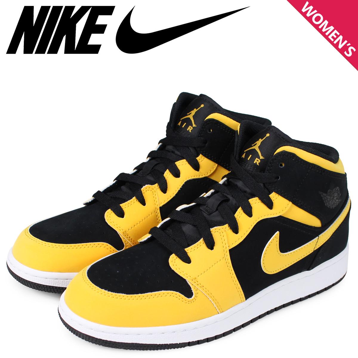568d38e9adbb NIKE Nike Air Jordan 1 Lady s sneakers AIR JORDAN 1 MID GS REVERSIBLE NEW  LOVE black 554