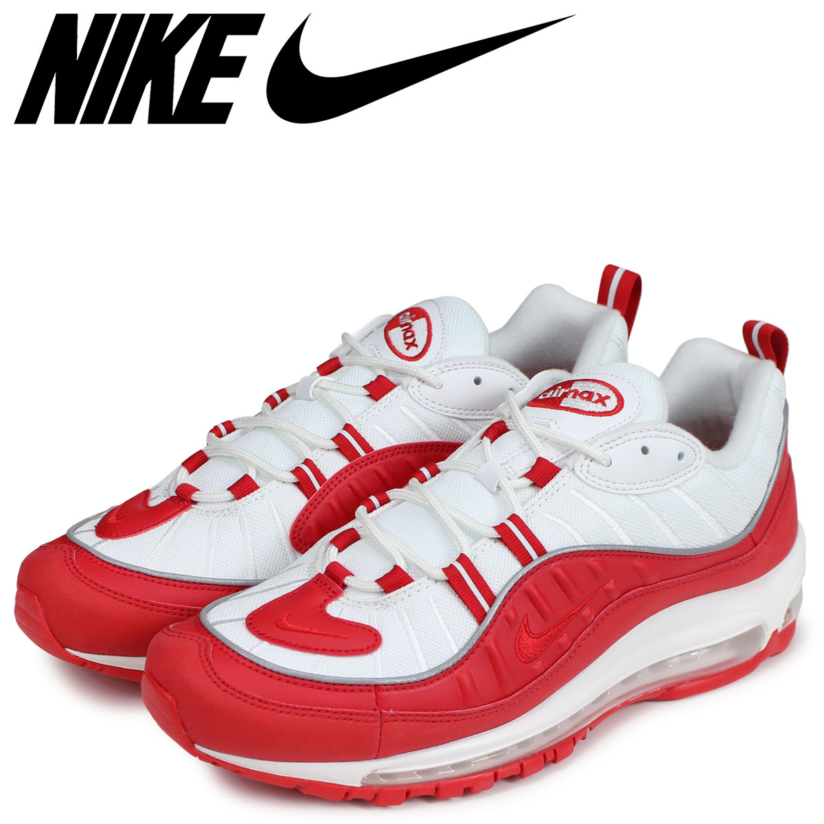premium selection 6395b 0addb NIKE Kie Ney AMAX 98 sneakers men AIR MAX 98 red red 640,744-602