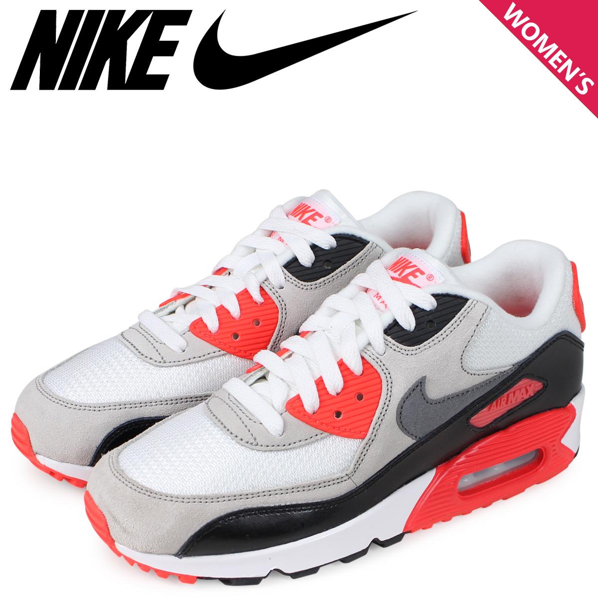 NIKE Kie Ney AMAX 90 Lady's sneakers AIR MAX 90 PREMIUM MESH GS white white 724,882 100