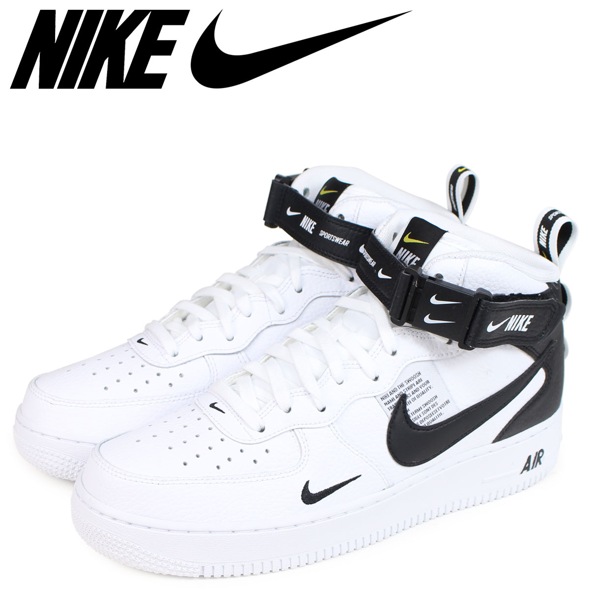 NIKE Nike air force 1 sneakers men AIR FORCE 1 MID 07 LV8 804,609-103 white  white