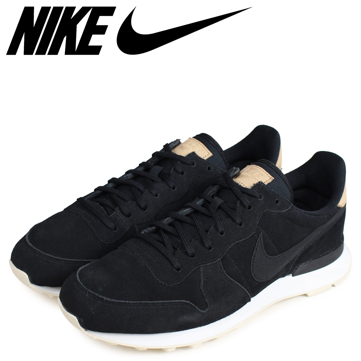 official photos 0eb6e 04f48 NIKE Nike internationalist sneakers men WMNS INTERNATIONALIST PREMIUM black  828,404-017 load planned Shinnyu load in reservation product 215  containing