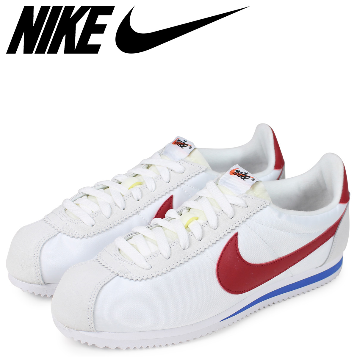 quality design 8234c e51e7 NIKE ナイキコルテッツクラシックスニーカーメンズ CLASSIC CORTEZ ATHLETICS WEST QS white  847,709-164 [load planned Shinnyu load in ...