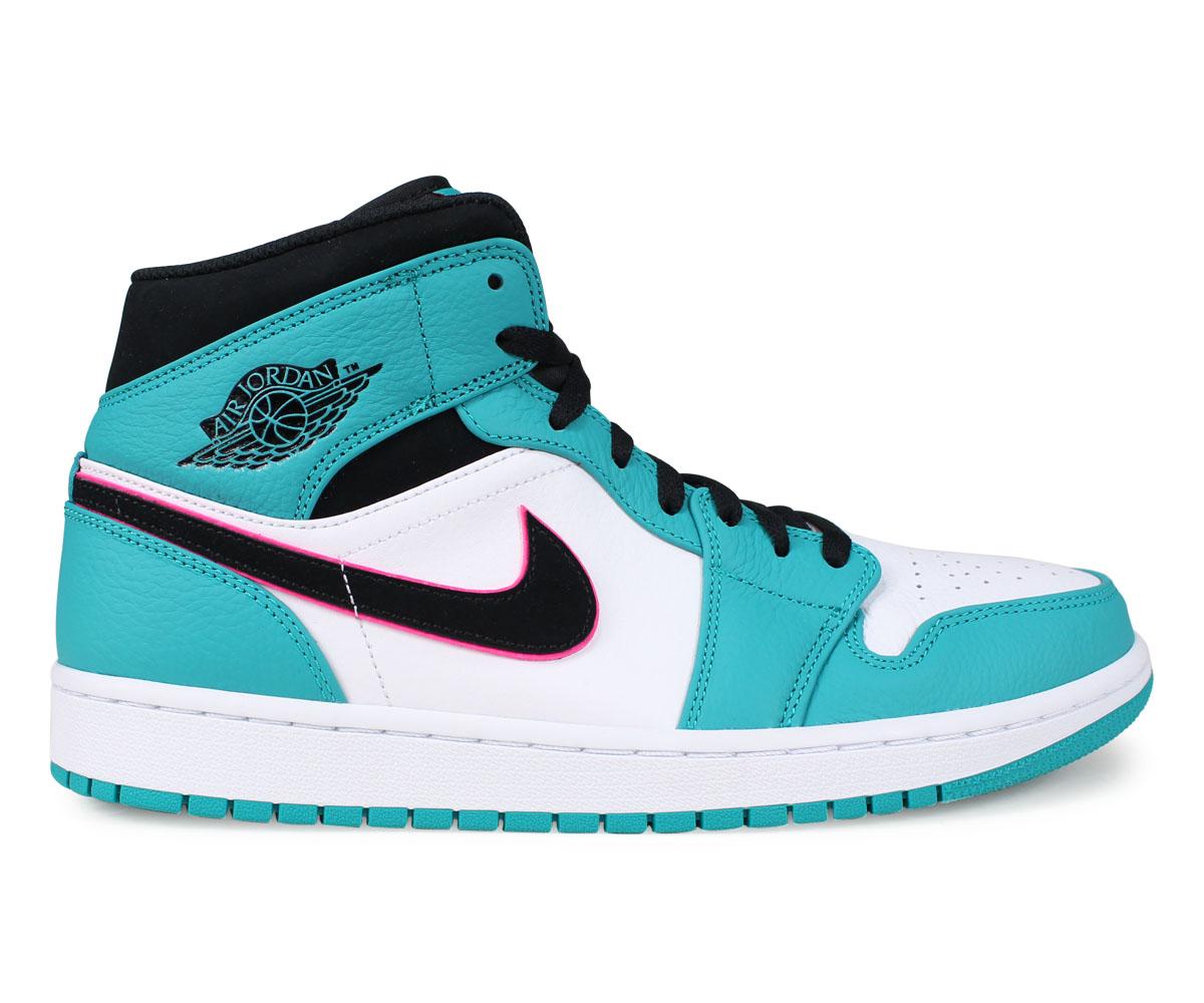cheap for discount bbdca 08f31 ... NIKE Nike Air Jordan 1 sneakers men AIR JORDAN 1 MID SE SOUTH BEACH  green 852,542 ...