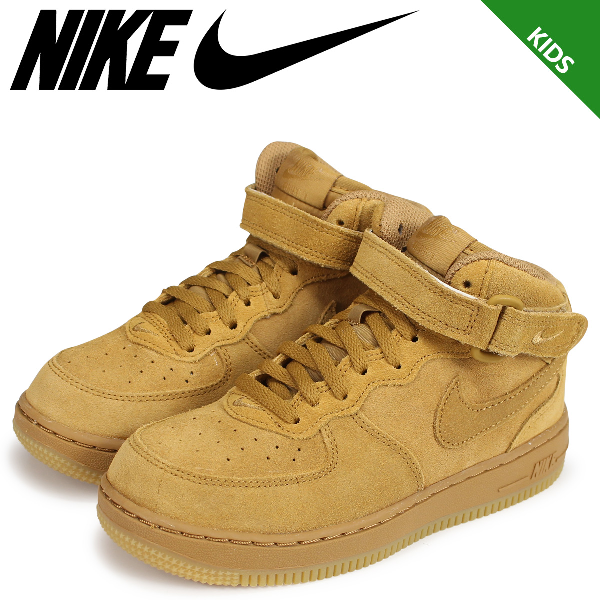 sports shoes bd973 56691 NIKE Nike air force 1 kids sneakers AIR FORCE 1 MID LV8 PS 859,337-701 ...