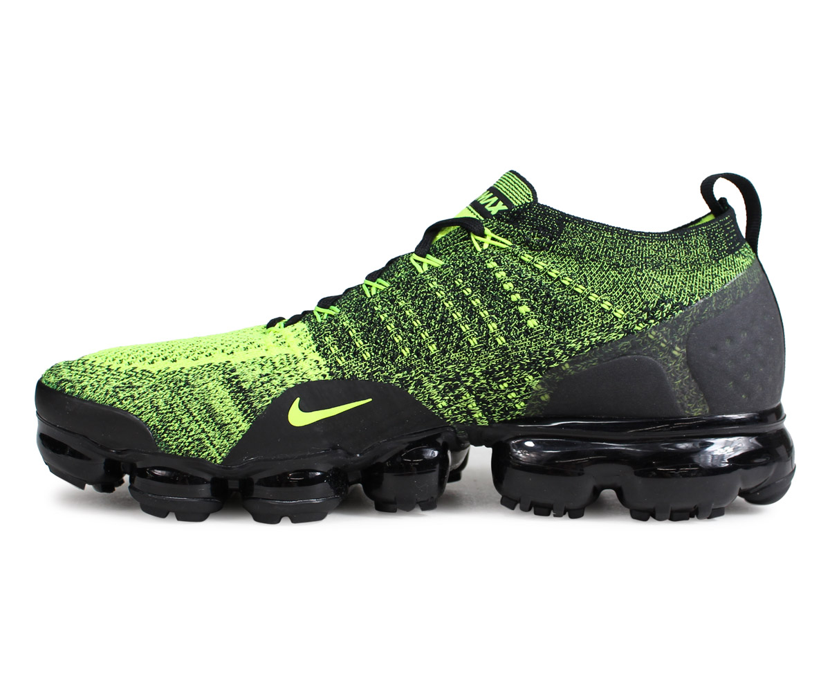 9313cd50ca45 NIKE Nike air vapor max fried food knit 2 sneakers men AIR VAPORMAX FLYKNIT  2 neon yellow 942