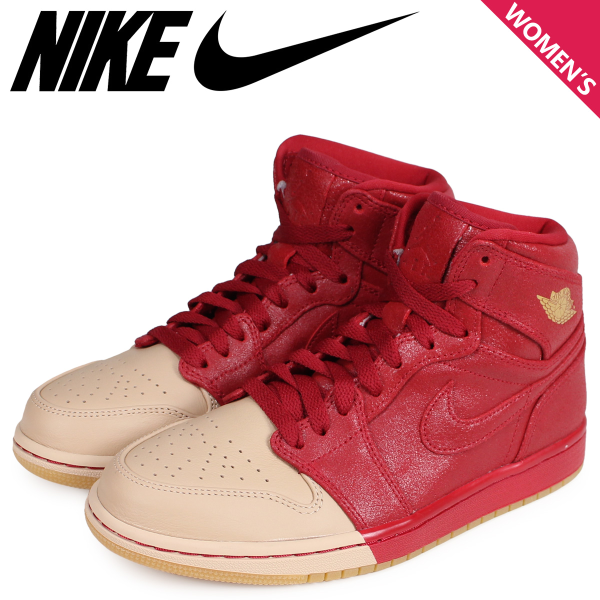 0e96e1183f6 NIKE Nike Air Jordan 1 nostalgic high sneakers Lady's WMNS AIR JORDAN 1  RETRO HIGH red ...