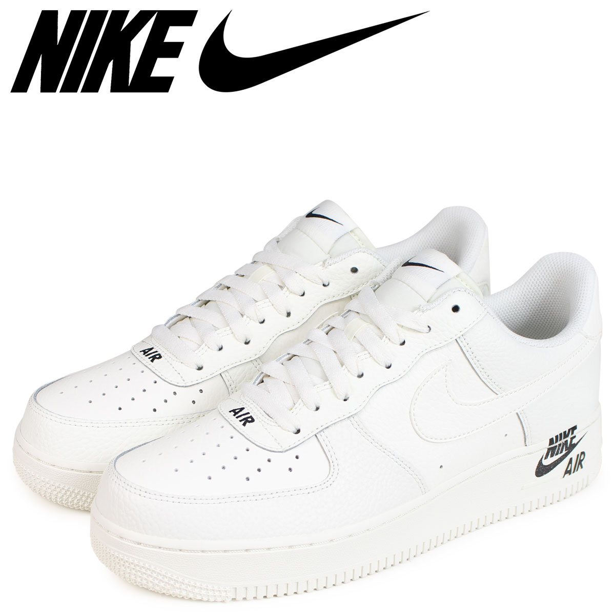 NIKE Nike air force 1 sneakers men AIR FORCE 1 07 LEATHER AJ7280 102 white white