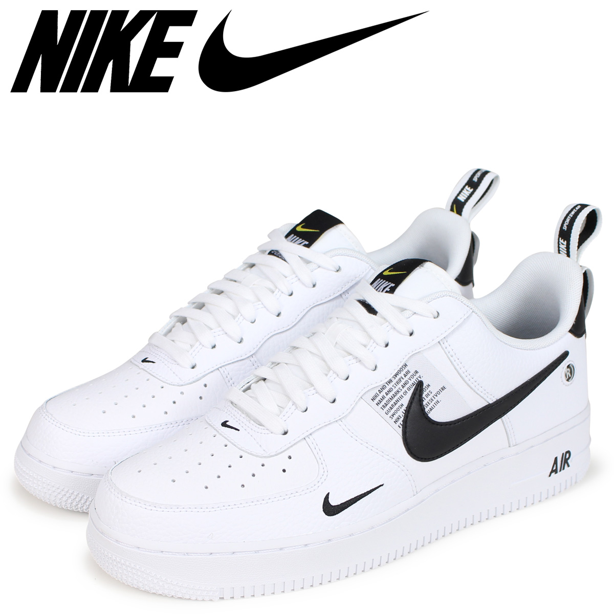 NIKE Nike air force 1 sneakers men AIR FORCE 1 07 LV8 UTILITY AJ7747 100 white white