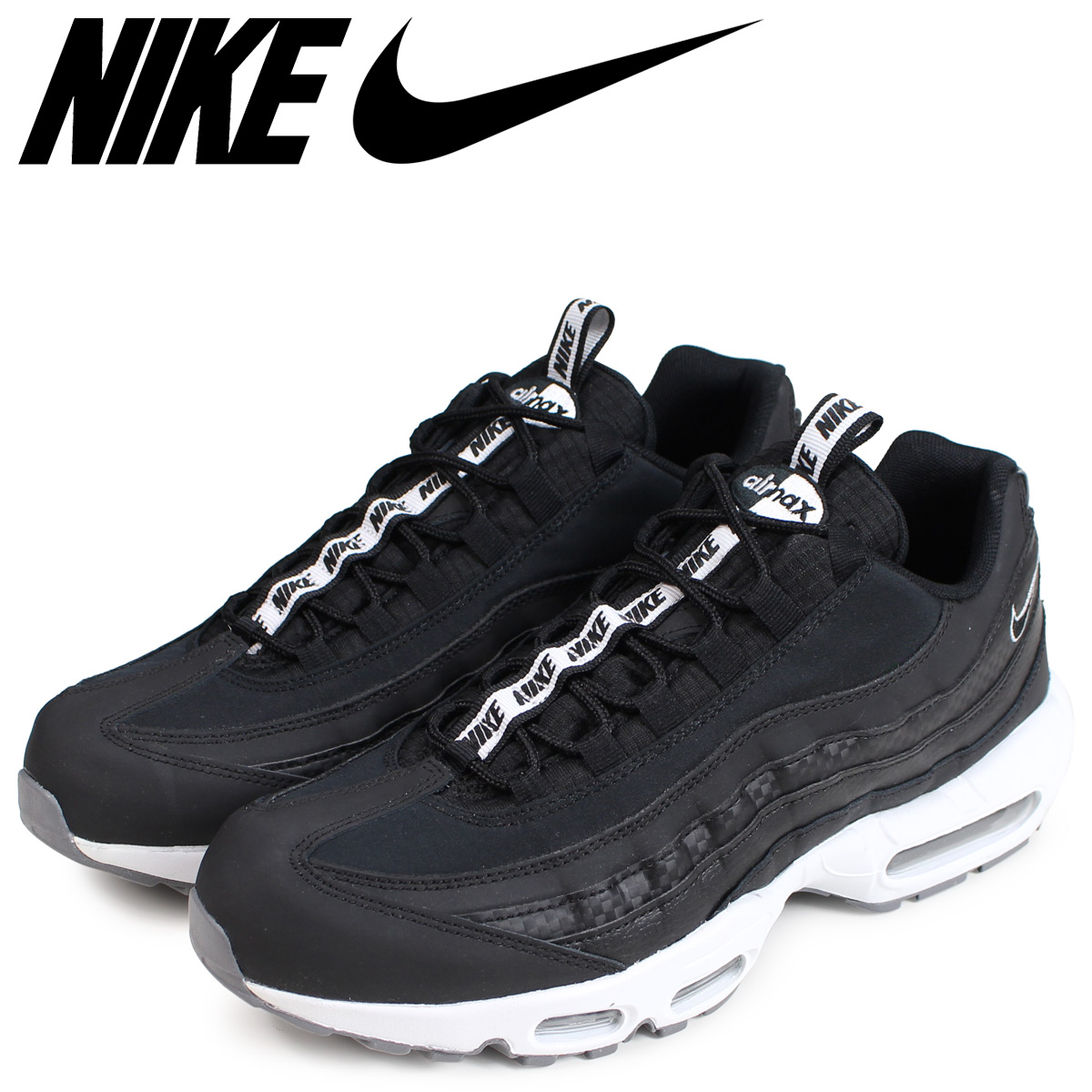nike air max 95 se black and white