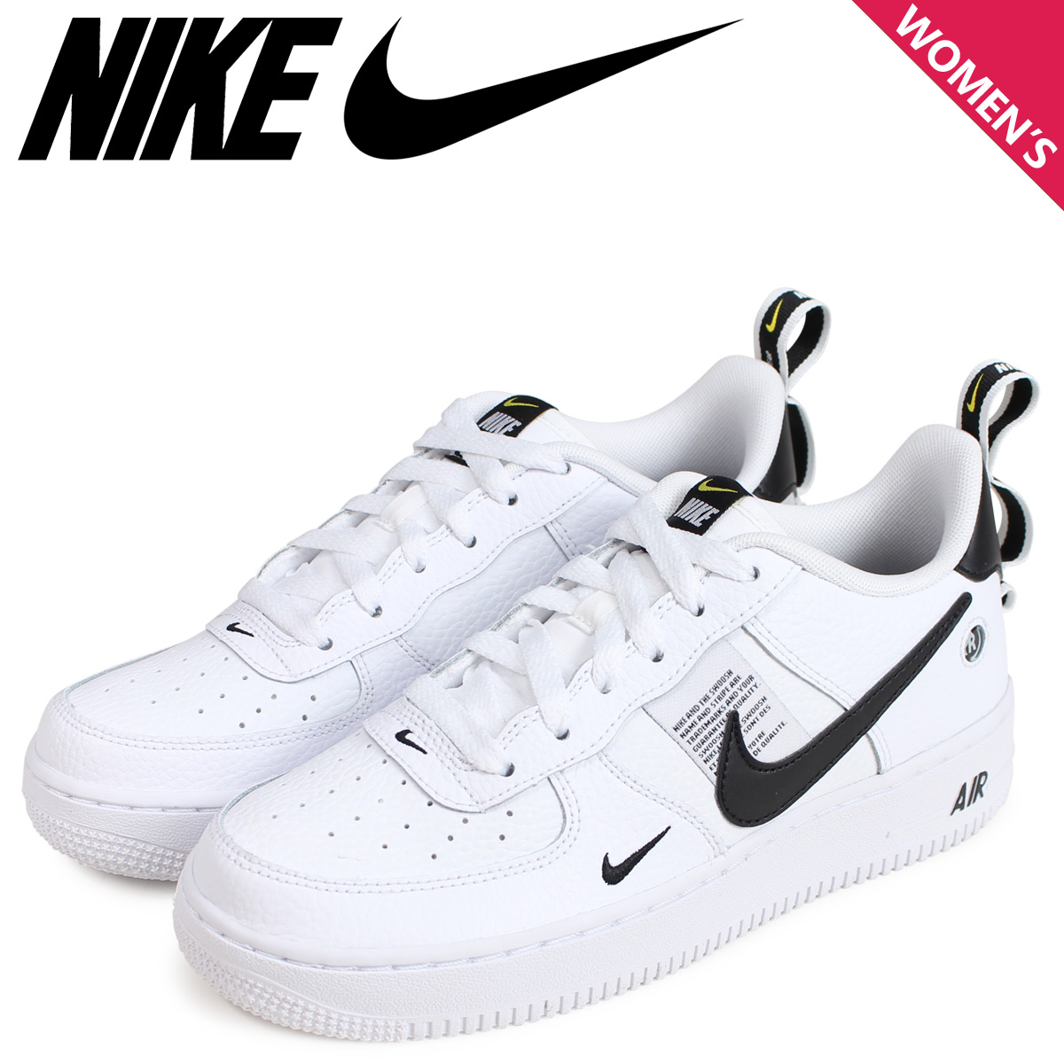 NIKE Nike air force 1 sneakers Lady's AIR FORCE 1 LV8 UTILITY GS white white AR1708 100