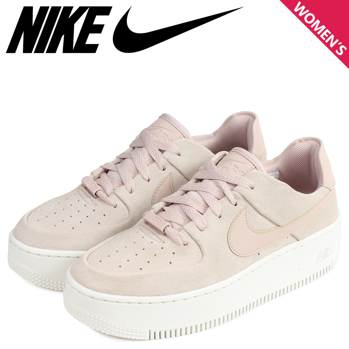 NIKE Nike air force 1 sneakers Lady's WMNS AIR FORCE 1 SAGE LOW AF1 beige AR5339 201
