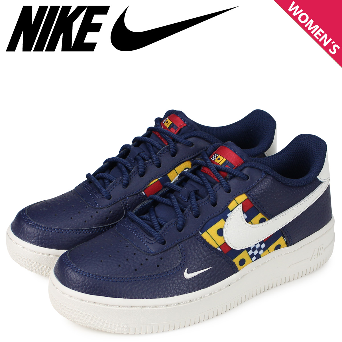 NIKE Nike air force 1 lady's sneakers AIR FORCE 1 LOW 07 LV8 GS navy AR5583 400
