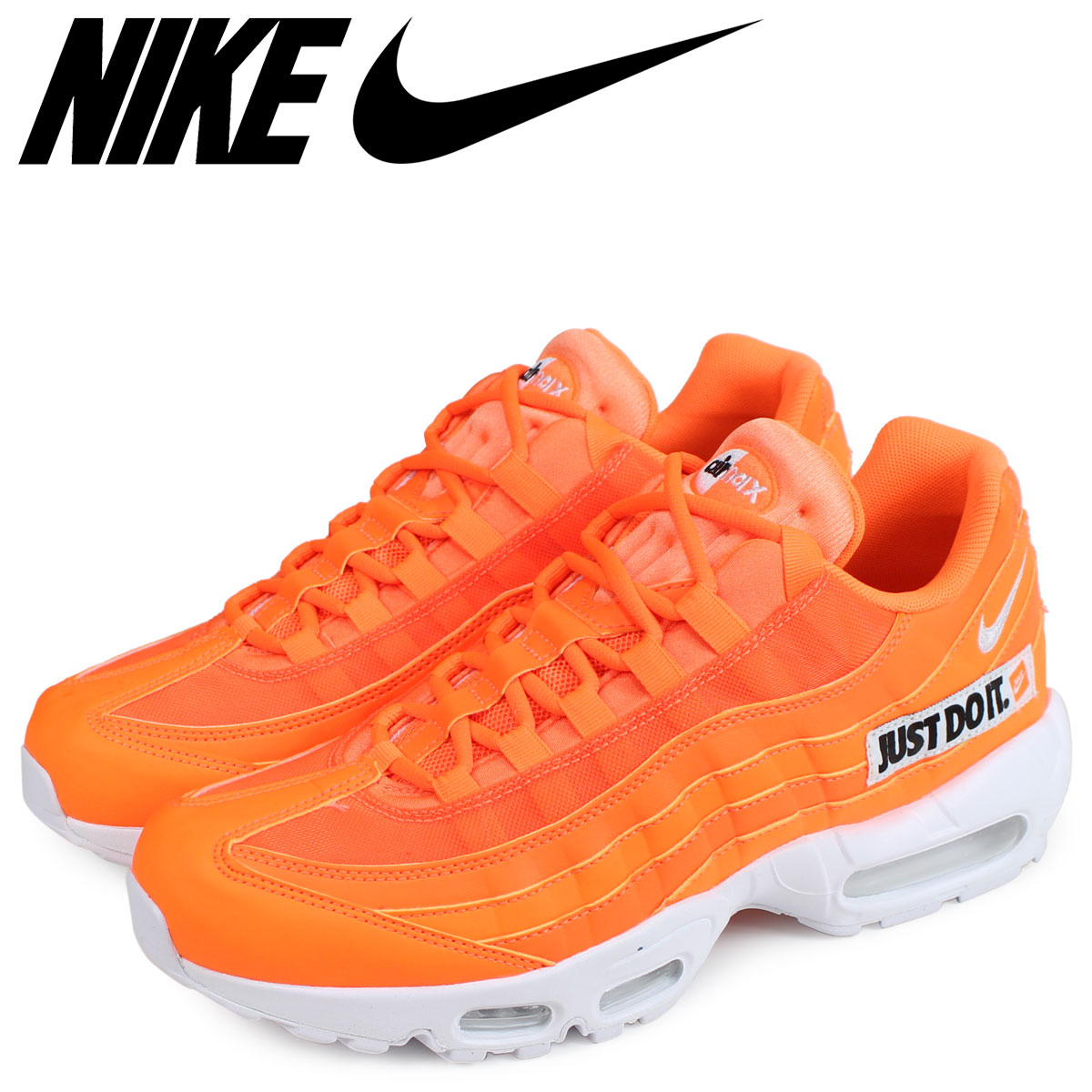 a369383d7bc NIKE Kie Ney AMAX 95 sneakers men AIR MAX 95 SE JUST DO IT orange  AV6246-800 [the 7/30 additional arrival]
