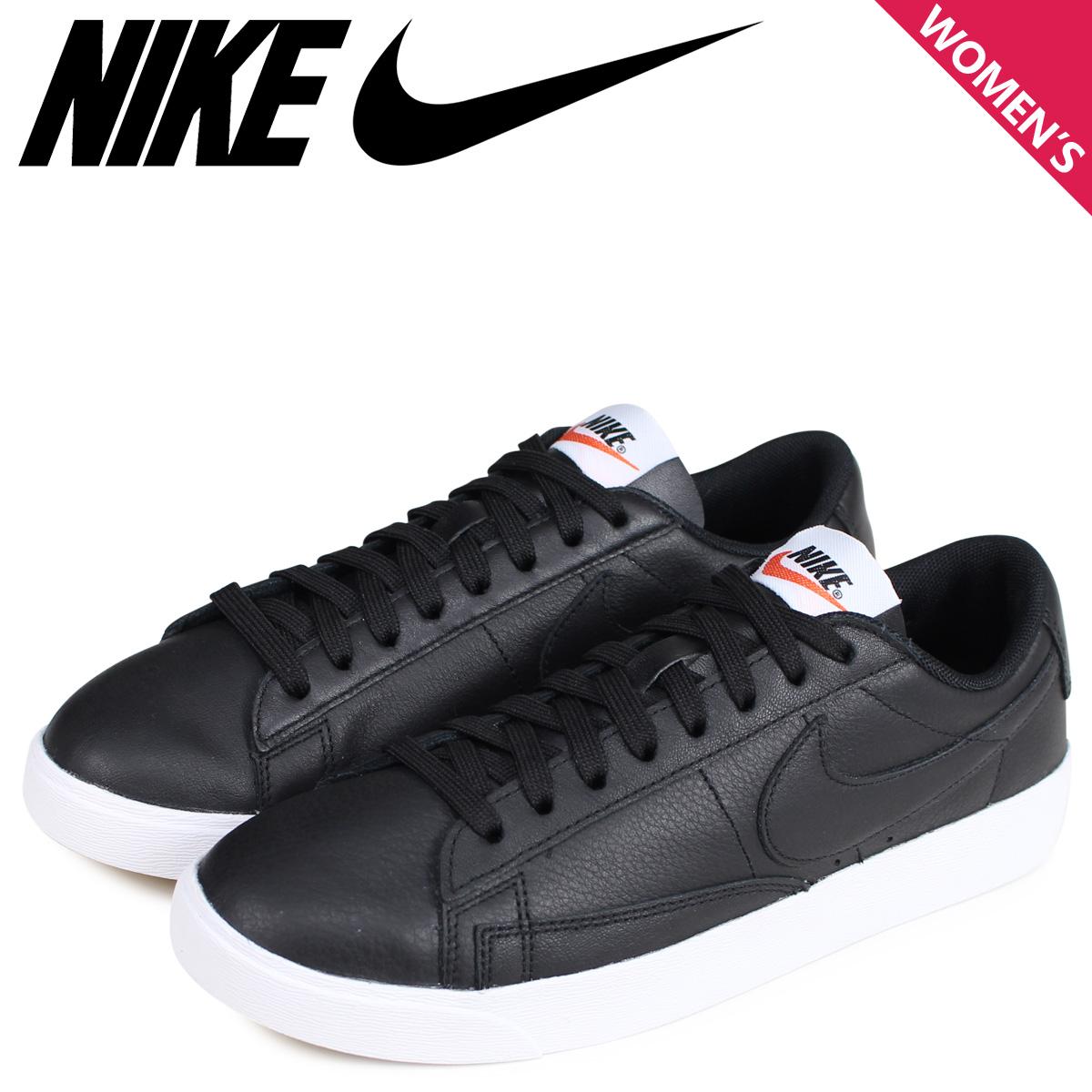 new arrivals bc255 cfdcc NIKE Nike blazer low sneakers Lady's WMNS BLAZER LOW LEATHER black black  AQ1777-001