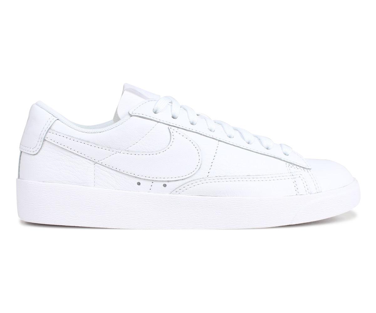best loved 887d0 53e52 NIKE Nike blazer low sneakers Lady's WMNS BLAZER LOW LEATHER white white  AV9370-111
