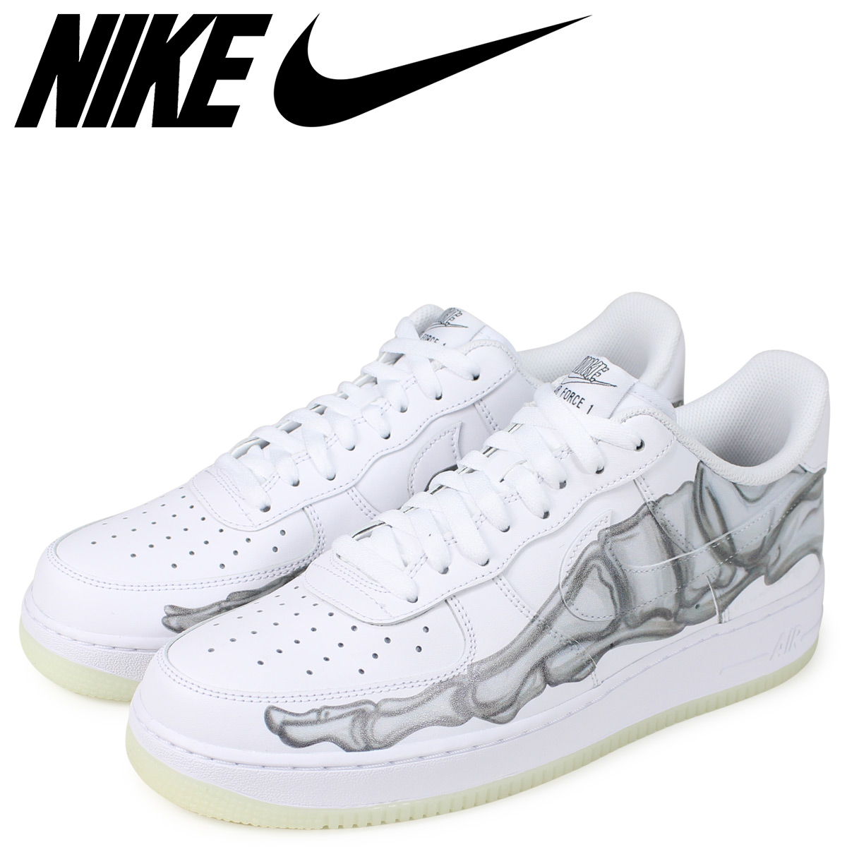 pretty nice classic shoes clearance prices NIKE Nike air force 1 sneakers men AIR FORCE 1 SKELETON QS white white  BQ7541-100