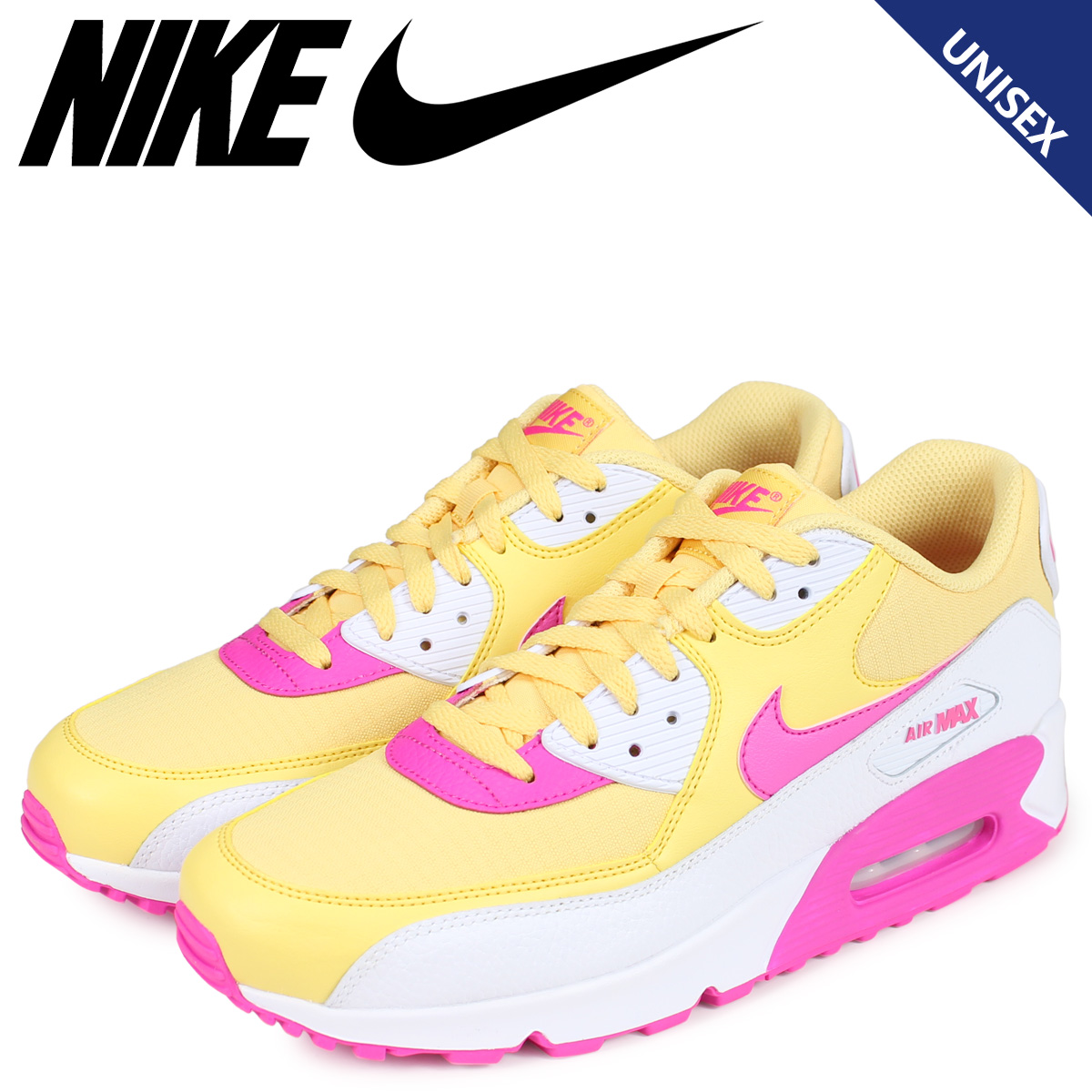 bca448bfe8 NIKE Kie Ney AMAX 90 sneakers men gap Dis WMNS AIR MAX 90 yellow 325,213-  ...