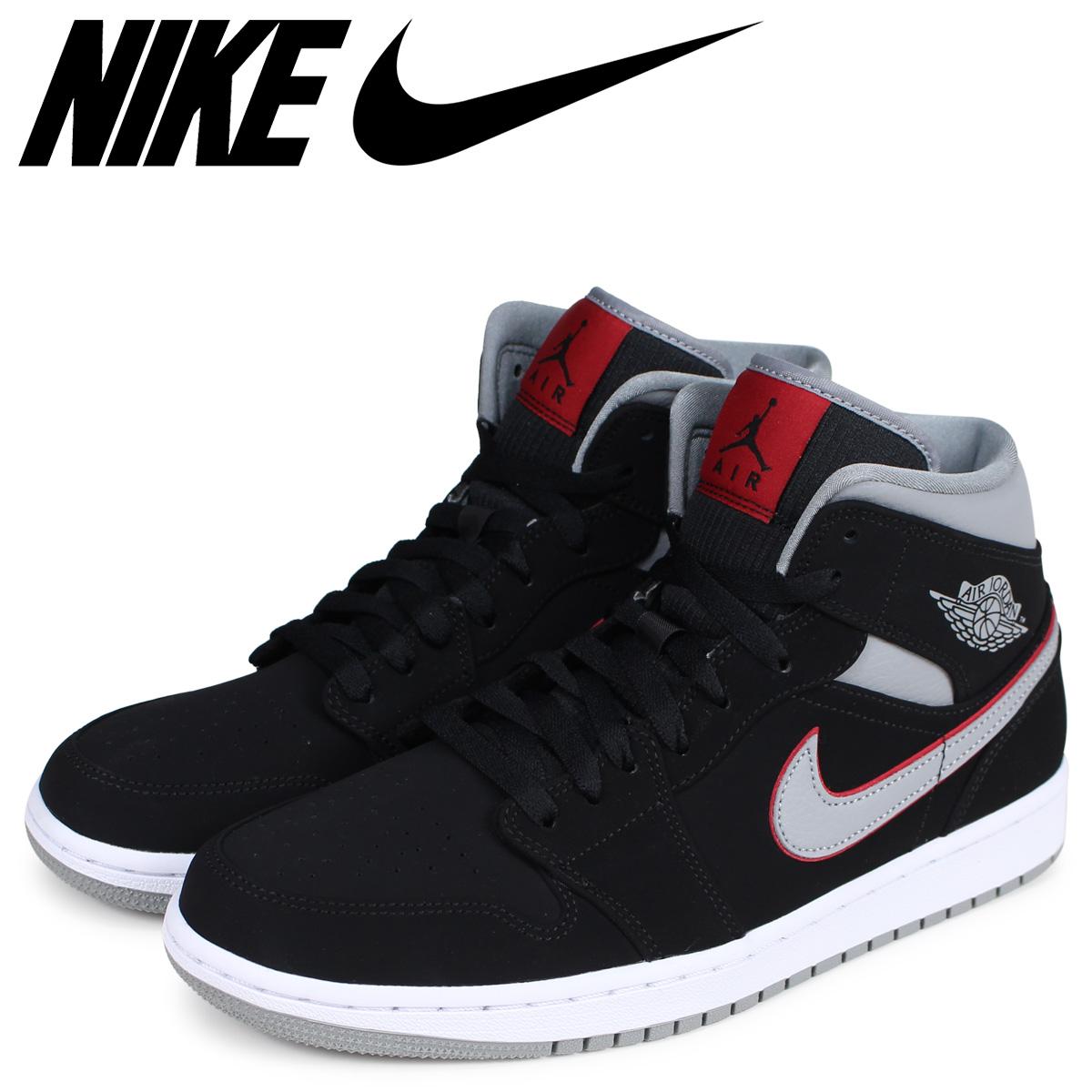 NIKE Nike Air Jordan 1 sneakers men AIR JORDAN 1 MID black black 554,724 060