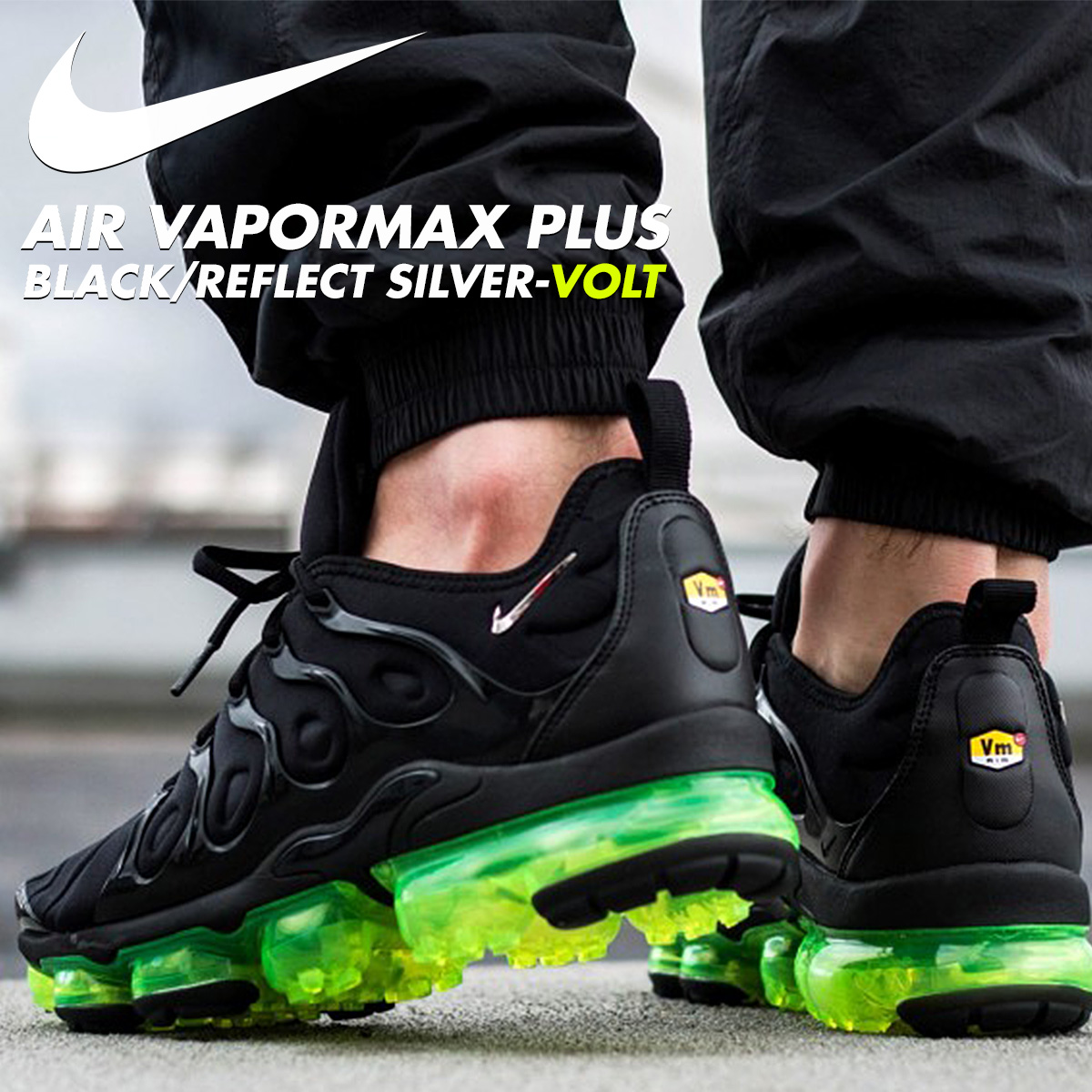 huge discount 7092b 7ea9e NIKE Nike vapor max plus sneakers men AIR VAPORMAX PLUS black black  924,453-015