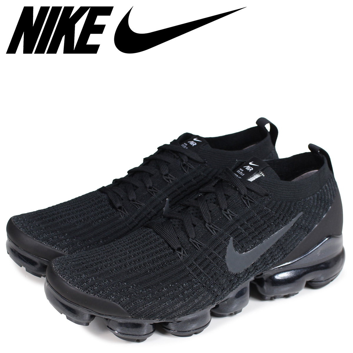 new arrival c9813 fc5cd NIKE Nike air vapor max fried food knit 3 sneakers men AIR VAPORMAX FLYKNIT  3 black black AJ6900-004