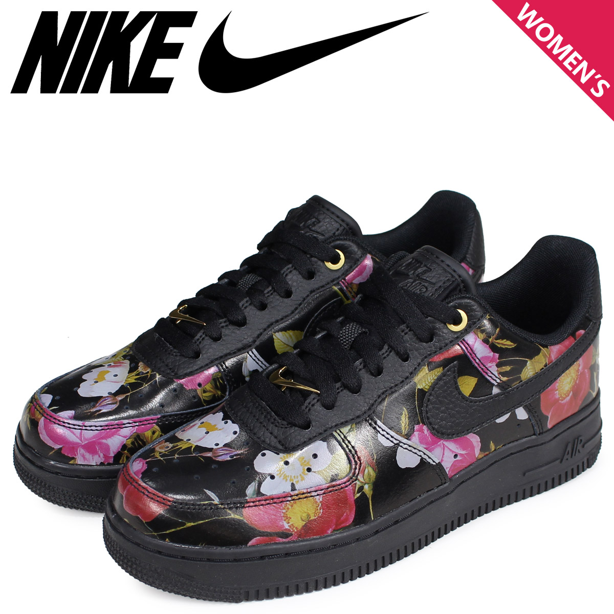 official photos 67e8d 33309 NIKE Nike air force 1 sneakers Lady s WMNS AIR FORCE 1 07 LXX black black  AO1017-002