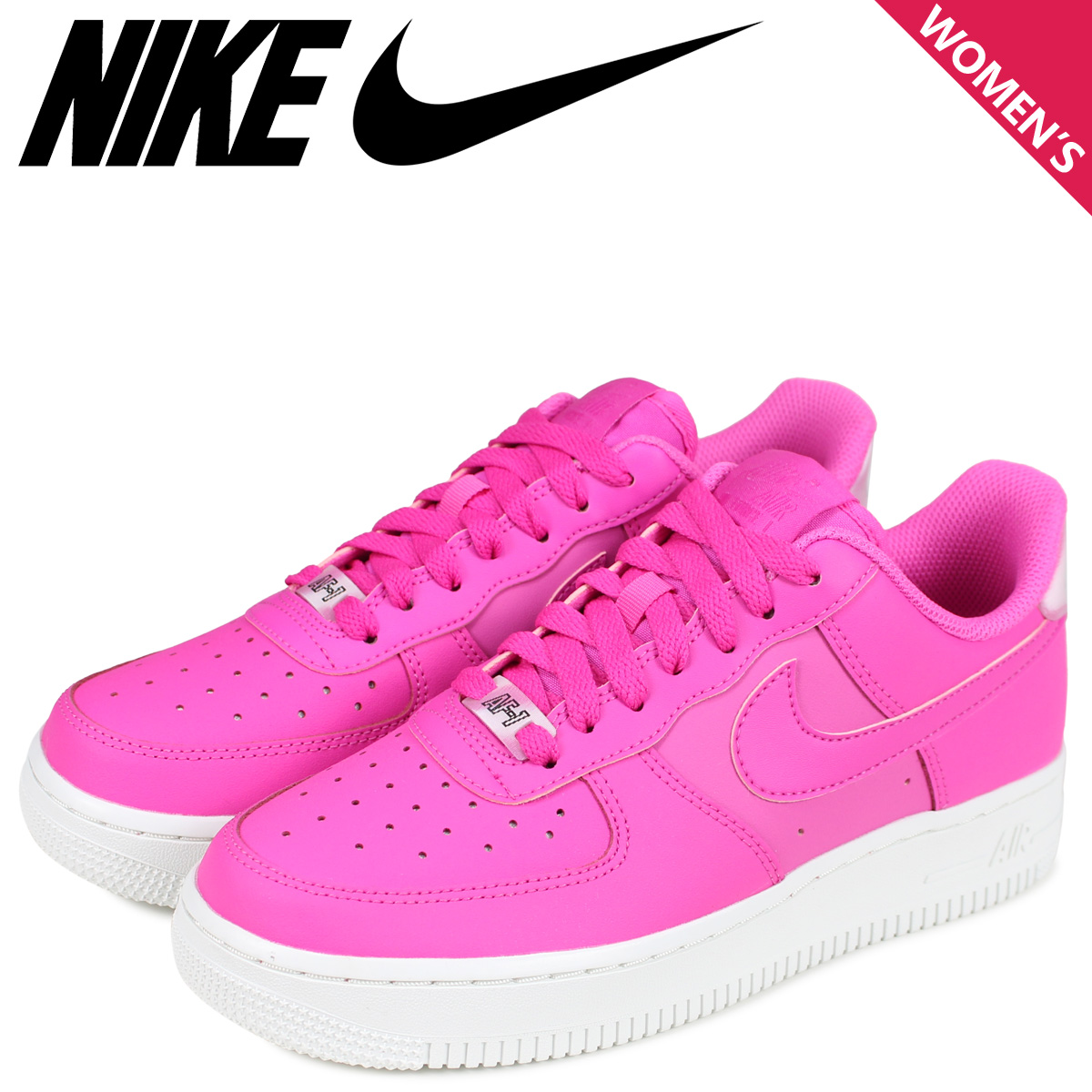 NIKE Nike air force 1 sneakers Lady's WMNS AIR FORCE 1 07 ESSENTIAL pink AO2132 600