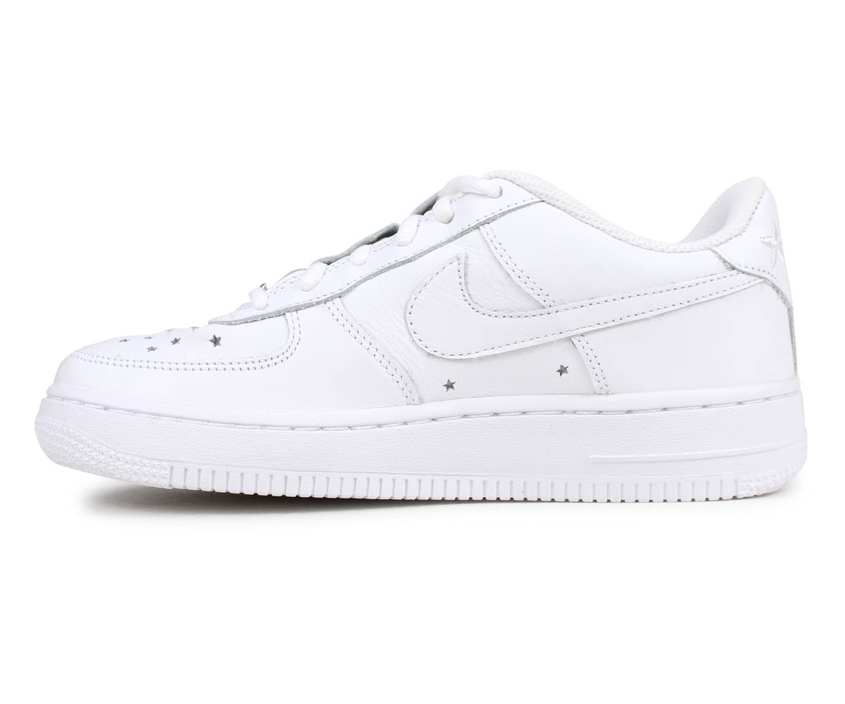NIKE Nike air force 1 sneakers Lady's AIR FORCE 1 LOW GS INDEPENDENCE DAY PACK white white AR0688 100