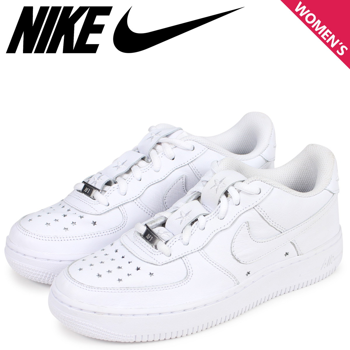 NIKE ナイキ エアフォース1 スニーカー レディース AIR FORCE 1 LOW GS INDEPENDENCE DAY PACK ホワイト 白 AR0688-100 [4/3 新入荷]