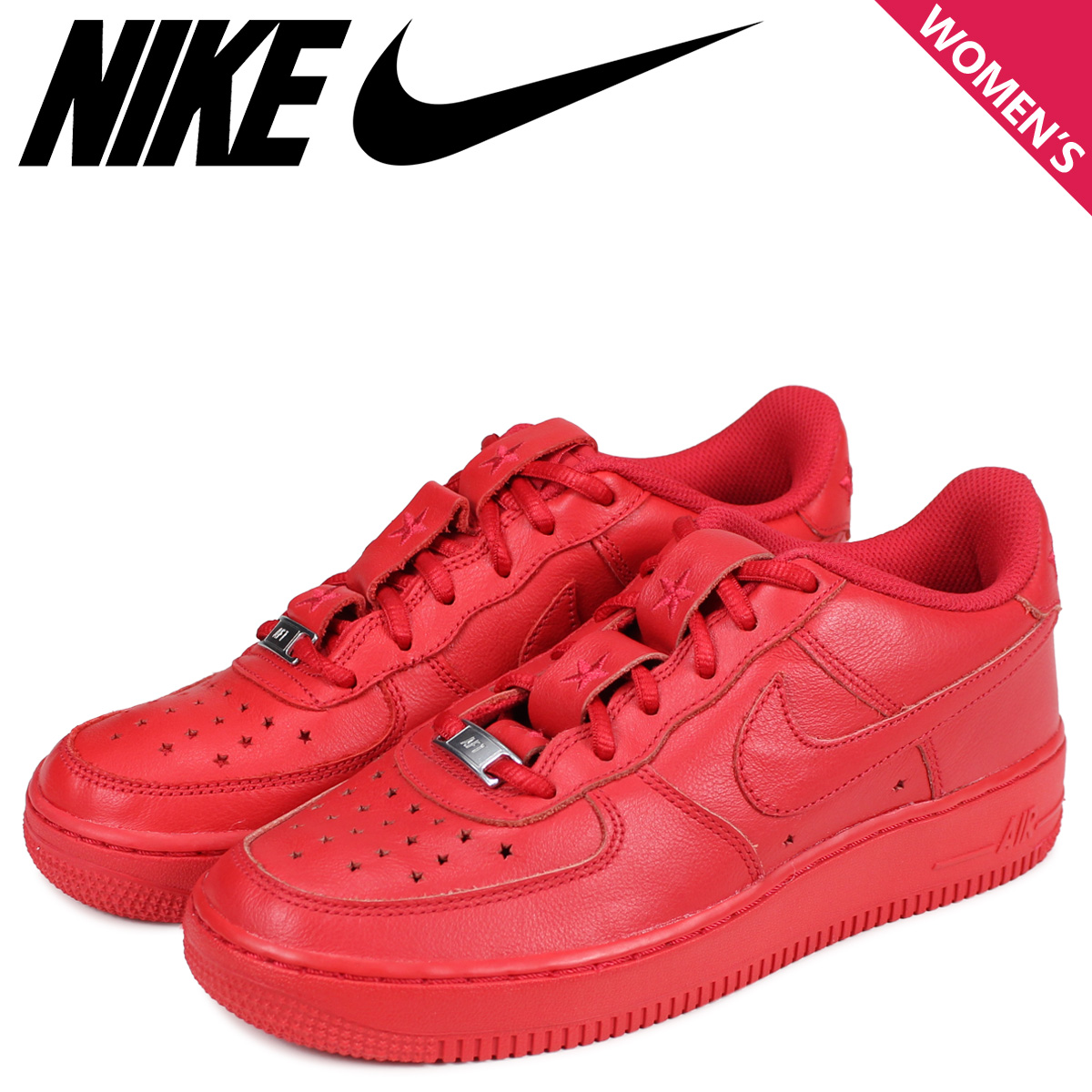 NIKE ナイキ エアフォース1 スニーカー レディース AIR FORCE 1 LOW GS INDEPENDENCE DAY PACK レッド AR0688-600 [予約商品 4/3頃入荷予定 新入荷]