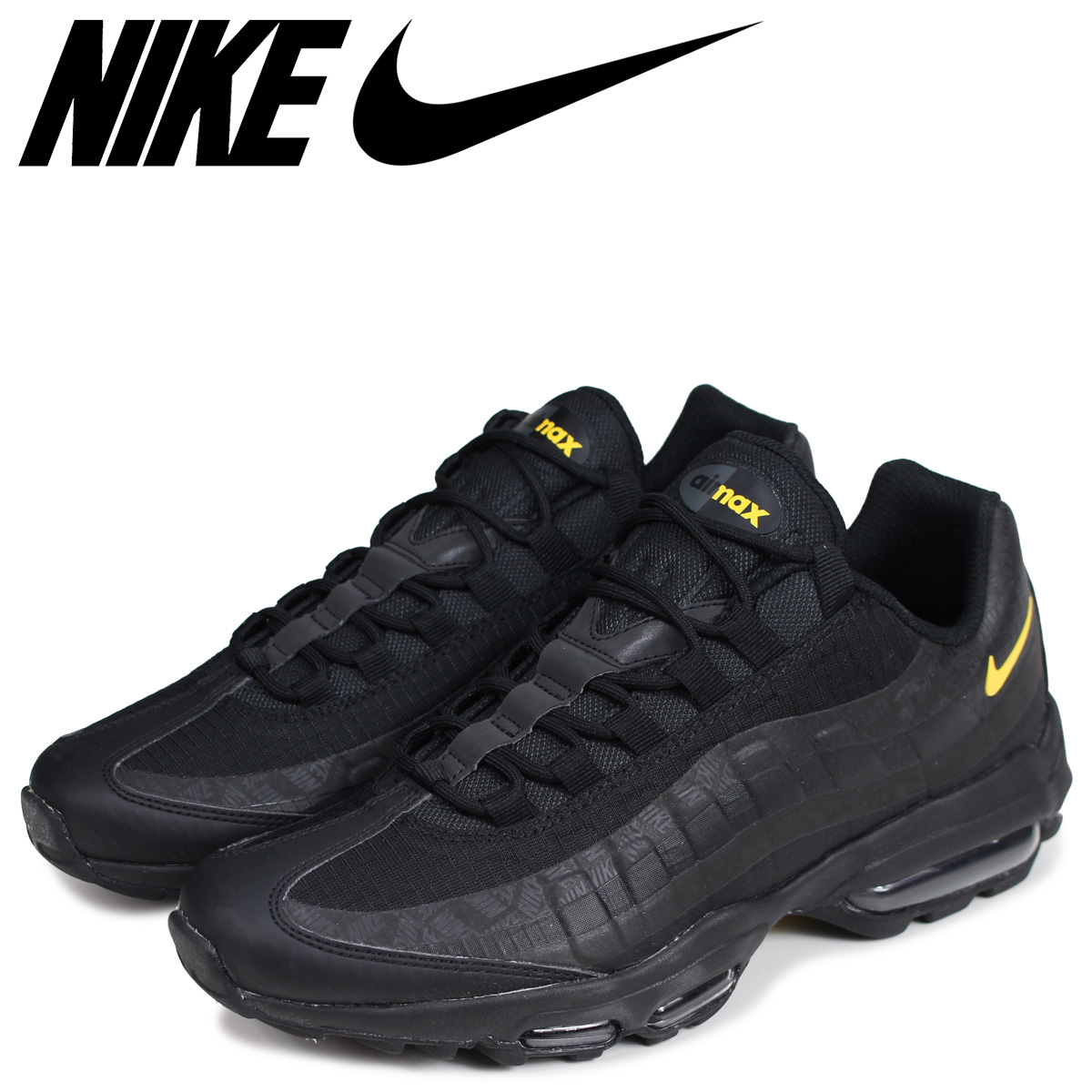 wholesale dealer 278c7 fba4a NIKE Kie Ney AMAX 95 sneakers men AIR MAX 95 ULTRA SE black black  AR4236-002 [the 7/9 additional arrival]