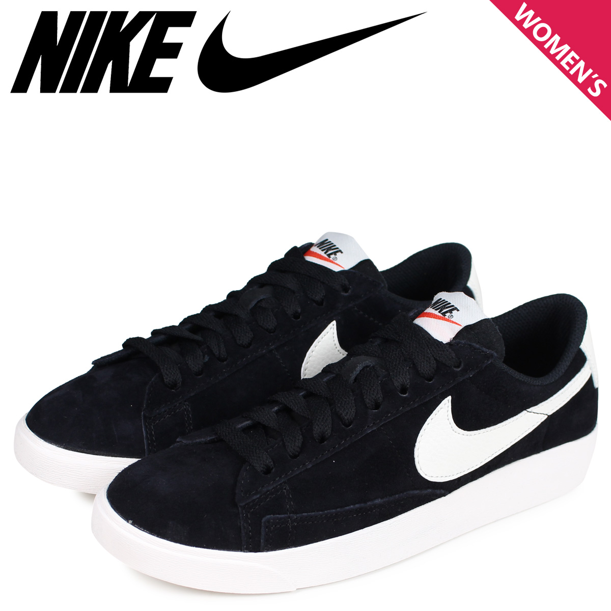 best service f012e 7585b NIKE Nike blazer low sneakers Lady's WMNS BLAZER LOW SD black black  AV9373-001