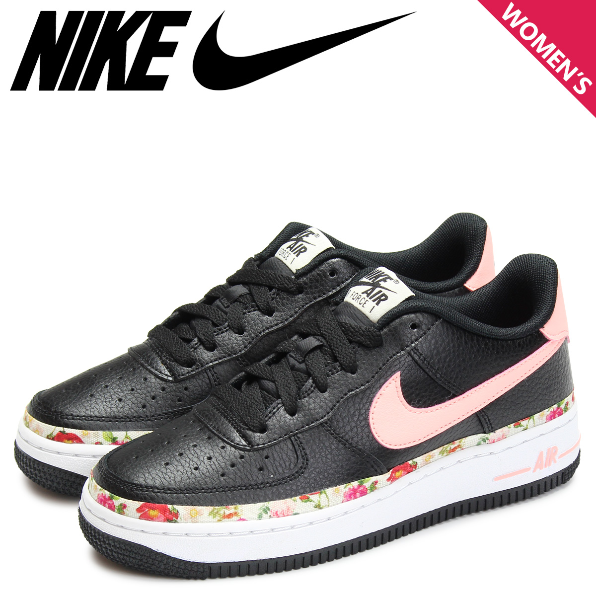 NIKE Nike air force 1 sneakers Lady's AIR FORCE 1 V.F. GS black black BQ2501 001