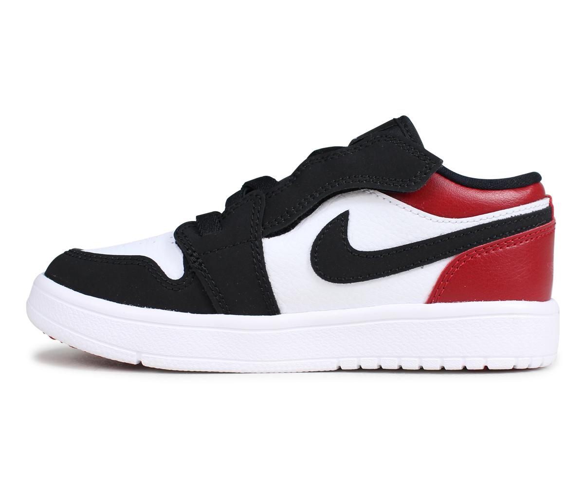 ea758e8c91be42 NIKE Nike Air Jordan 1 sneakers kids AIR JORDAN 1 LOW ALT PS BLACK TOE つま  black white white BQ6066-116  4 30 Shinnyu load
