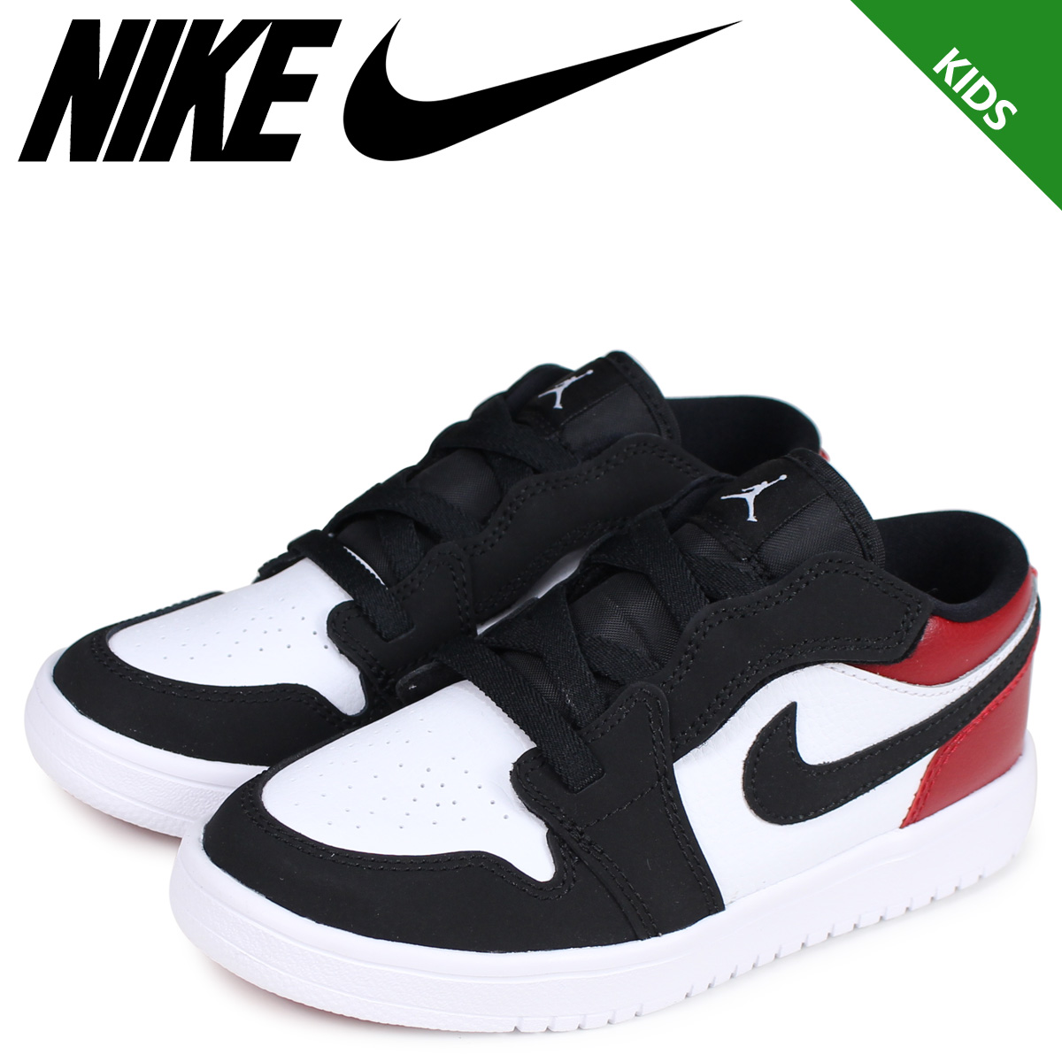 buy popular 50151 03e4b NIKE Nike Air Jordan 1 sneakers kids AIR JORDAN 1 LOW ALT PS BLACK TOE つま  black white white BQ6066-116